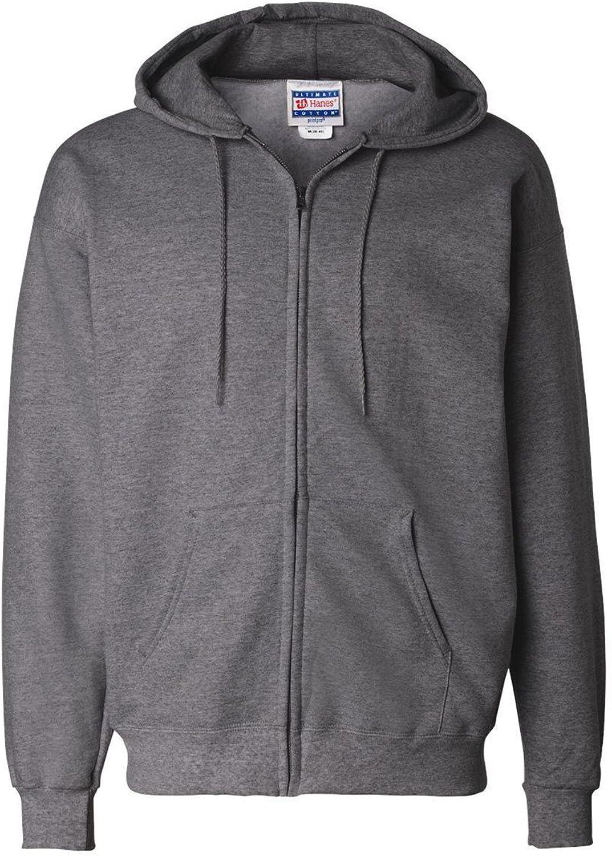 Hanes Men's Light ST-Shirtl Full-Zipper Hoodie, Light Steel, Small