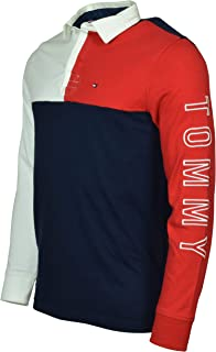 Tommy Hilfiger Men's Long Sleeve Pieced Rugby Shirt