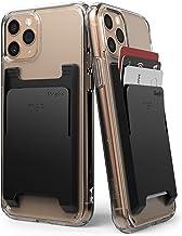 Ringke Slot Card Holder Designed for Smartphones, Adhesive Stick On Wallet Case Minimalist Slim Hard Premium Credit Card Cash Sleeve - Black