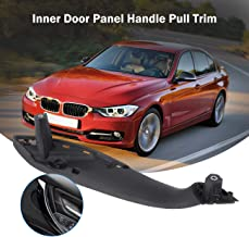 Partol Car Interior Door Handle Cover For BMW 3 4 Series,Inner Door Supprot Handle Pull Strap Grab Cover Passenger Side Right Front Door Fit For BMW 320,328,330,335,M3 2012-2018 &428, 435,M4 2014-2017