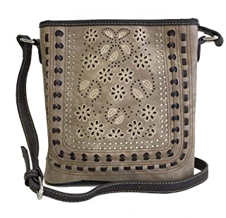American Bling Concealed Gun Carry Messenger Purse Cross Body Daisy Cutouts