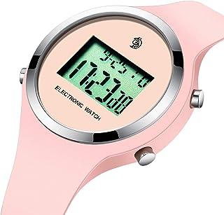 Montre pour Enfant Sport Mode Chronographe Numerique Electronique Calendrier Digitale Multifonction Belles Alarme Fille Di...