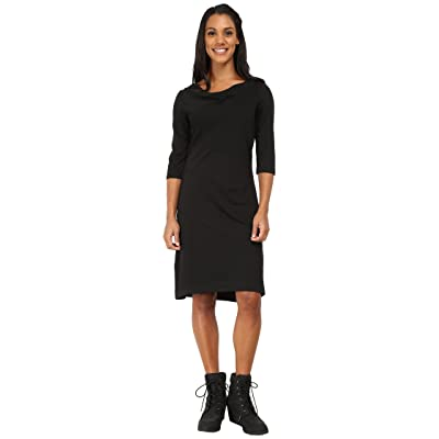 Royal Robbins Ponte 3/4 Sleeve Dress (Jet Black) Women