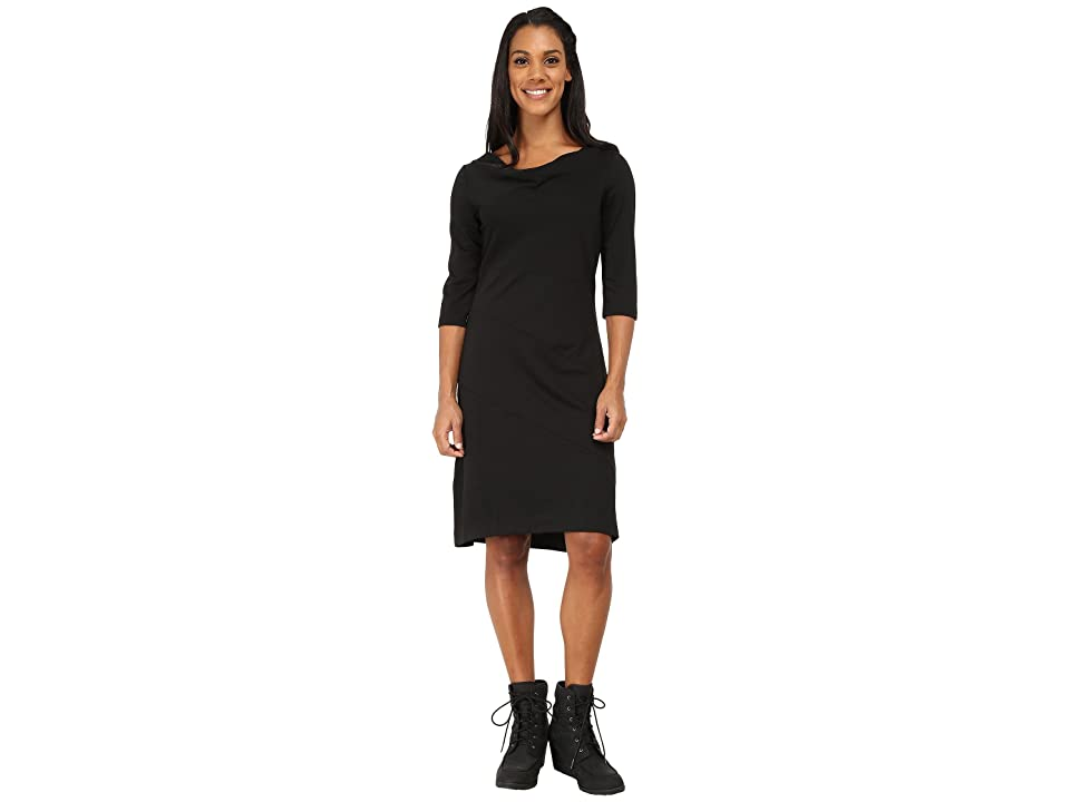 Royal Robbins Ponte 3/4 Sleeve Dress (Jet Black) Women