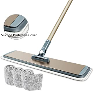 """FRMARCH 18"""" Professional Microfiber Mop 360 Flat Mop for Floor Cleaning, Wet and Dry Floor Cleaning Mops for Hardwood, Wood, Tile, Walls,Commercial Grade Metal Handle/Head,All in 3 mop pad"""