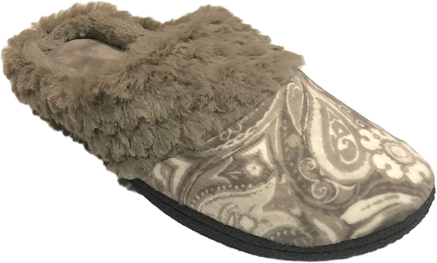 Dearfoams Women's Sculpted Pile Velour Clog Memory Foam Slipper