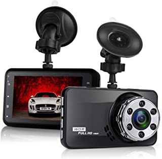 Dash Cam, NIUTA 1080P FHD DVR Car Driving Recorder 3 Inch LCD Screen 170° Wide Angle, G-Sensor, WDR, Parking Monitor, Loop Recording, Motion Detection