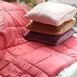 J.F.AMIEE New 2-in-1 Fashion Style Multi-Function Cute Macaron Velvet Plush Coral Fleece Cushion Pillow Blanket Hand Warmer Throw Pillows Within Super-Soft Blanket Dark Pink
