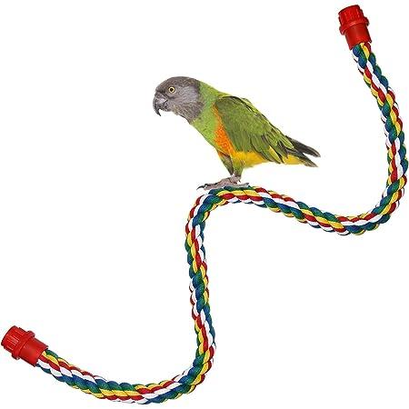 Multi-size Large N//I Parrot Cotton Rope Bird Toy Fun Rotating Ladder 30CM//55CM//80CM//1058CM Medium And Small Parrot Cotton Rope Climbing Nibble Toy Rope