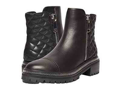 STEVEN NEW YORK Fancey (Black Leather) Women