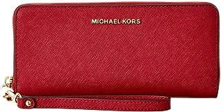 2063b3d3aaeb Michael Michael Kors Jet Set Travel Leather Continental Wallet (Cherry)