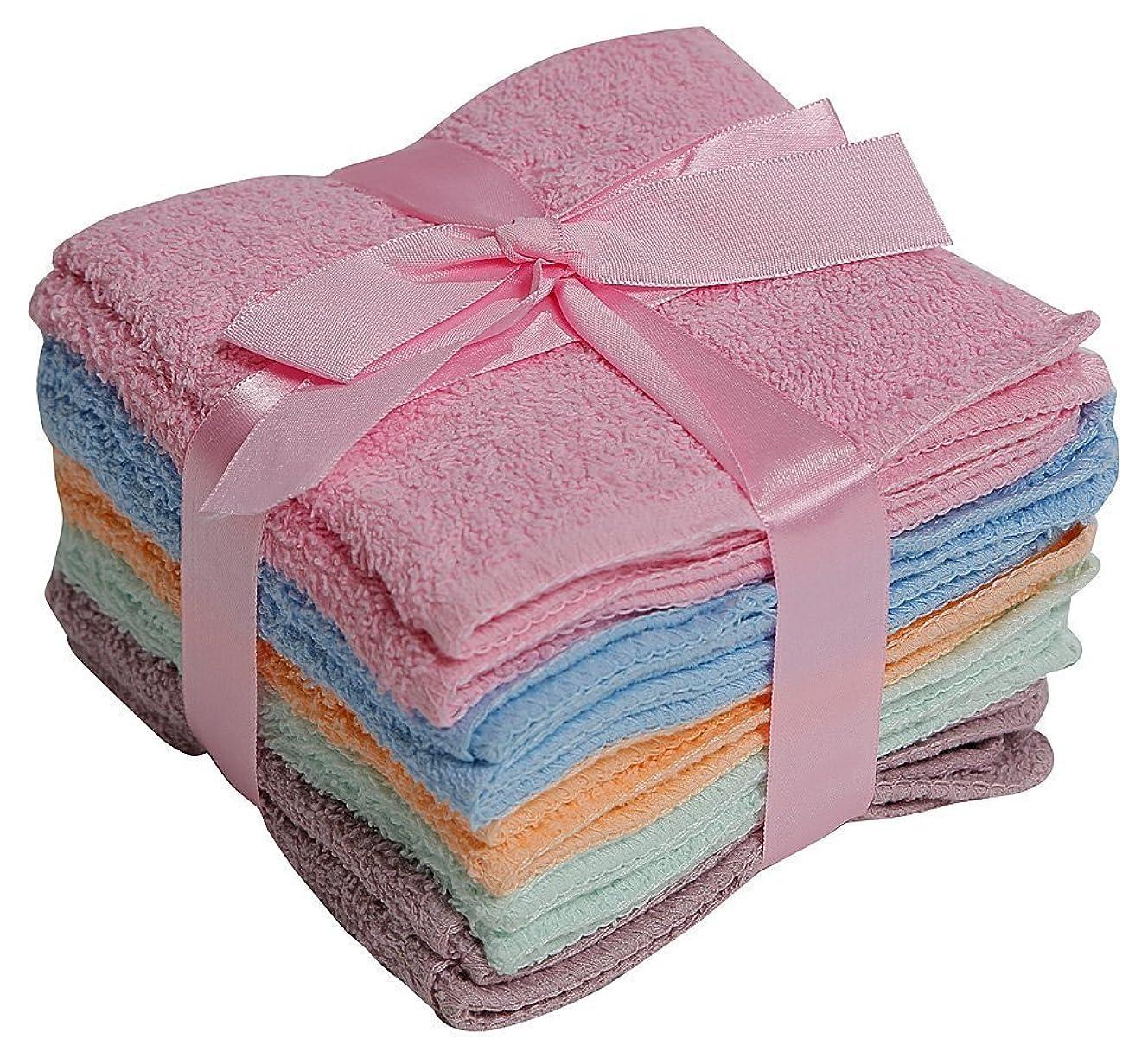 遺体安置所重要なリーク100% Cotton WASHCLOTHS, 10pc Set, Colours may Vary