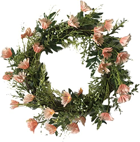 lowest Spring Door Wreath with Spring Summer Flower Carnation wholesale and Hydrangea for Mother's Day, Wedding, Front Door, Wall lowest and Home Decoration, 16 Inch outlet sale