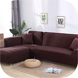 Grey Color Elastic Couch Sofa Cover Loveseat Cover Sofa Covers for Living Room Sectional Sofa Slipcover Armchair Furniture Cover,Coffee,1-Seat 90-140Cm