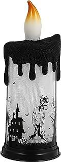 KESYOO Halloween Human Skeleton Flameless LED Tea Light Candles Battery Operated Votive Tea Lights Candle for Wedding Home...