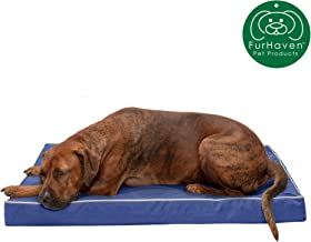FurHaven Deluxe Orthopedic Egg Crate Mattress Pet Bed for Dogs and Cats, Available in 24 Colors