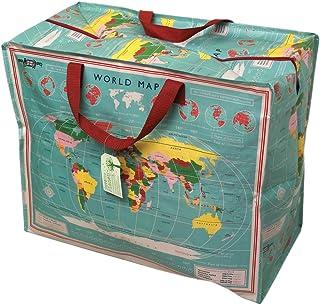 dotcomgiftshop Grand Sac de Rangement Jumbo Bag Carte du Monde Earth