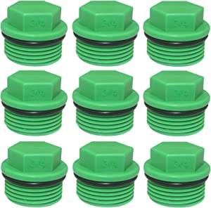 30 Pieces Male Threaded PPR End Cap Plugs Garden Irrigation Pipe Fittings Water Tubing Stopper for Preventing Leakage Clogging (3/4 inch)