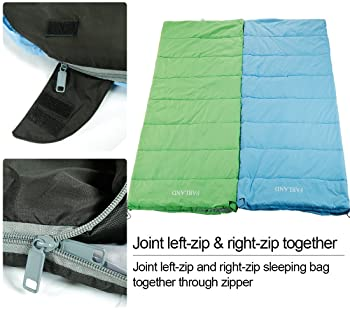 FARLAND Sleeping Bags 20℉ for Adults Teens Kids with Compression Sack Portable and Lightweight for 3-4 Season Camping...