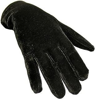 Black Velvet Wrist Length Womens Gloves