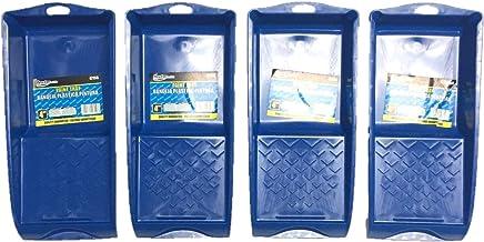BRUFER 47158 4-Pack of Molded Mini Plastic Paint Trays for 4