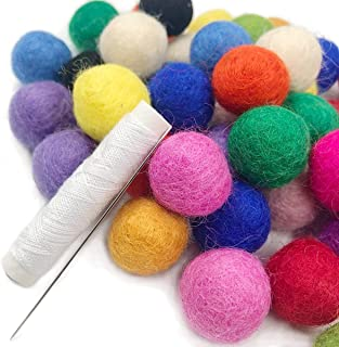 50pc 20mm DIY Christmas Decor Wool Felt Balls Mixed Colour Wool Pom Gumball Beads Craft Decoration