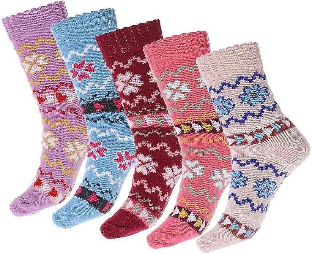Drecode Funny Socks Blue Soft Warm Compression Socks Slipper Sport Sleeping Casual Socks for Women and Mens 5 Pairs