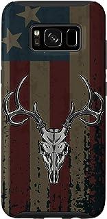 Galaxy S8 American Flag Whitetail Deer Buck Hunting USA FLAG Hunter Case