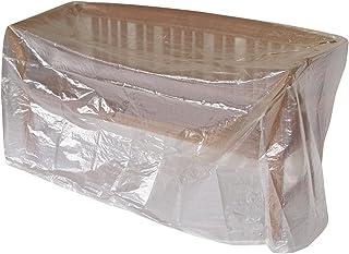 schutzhülle für gartenmöbel DEGAMO Abdeckhaube Bank 2-sitzer 134cm, PE transparent