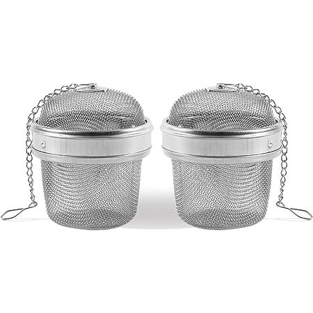 Strainer Clip Seasoning Ball Stainless Steel Tea Bag Reusable Infuser T2I6
