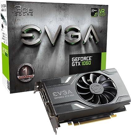 EVGA GeForce GTX 1060 3GB SC GAMING, ACX 2.0 (Single Fan), 3GB GDDR5, DX12 OSD Support (PXOC), 03G-P4-6162-KR