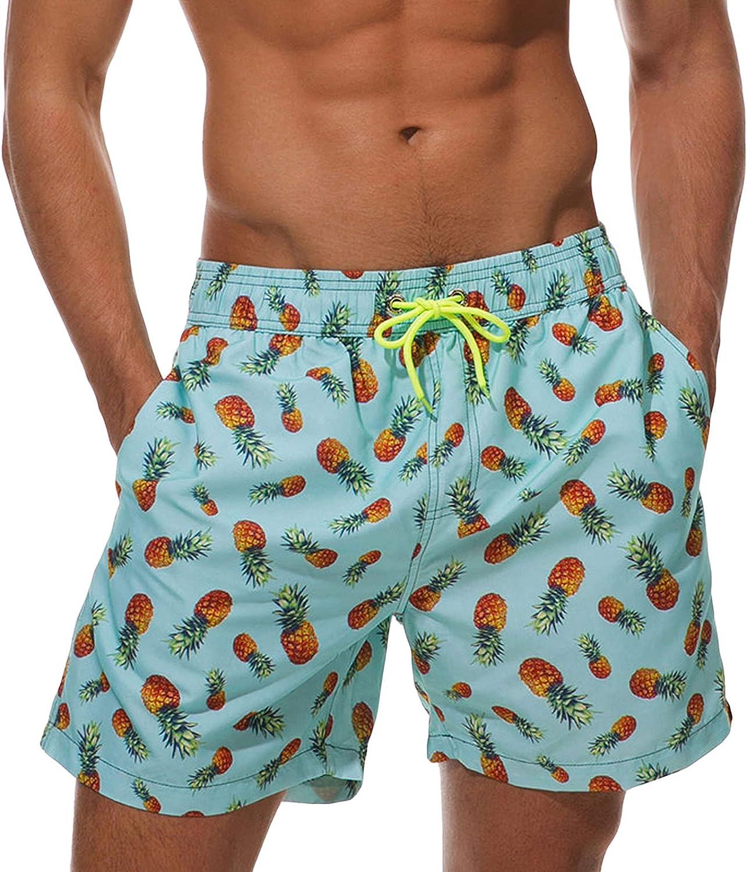 Men Beach Board Shorts Bottoms Running Sports Swim Surf Boxer Trunks Swimwear 15 Print Colors 3XL