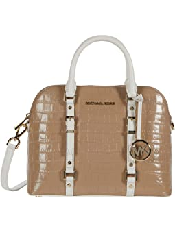 마이클 마이클 코어스 Michael Michael Kors Bedford Legacy Medium Dome Satchel,Truffle Multi