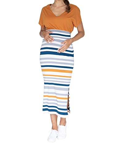 Angel Maternity Fitted Maxi Maternity Skirt (White) Women