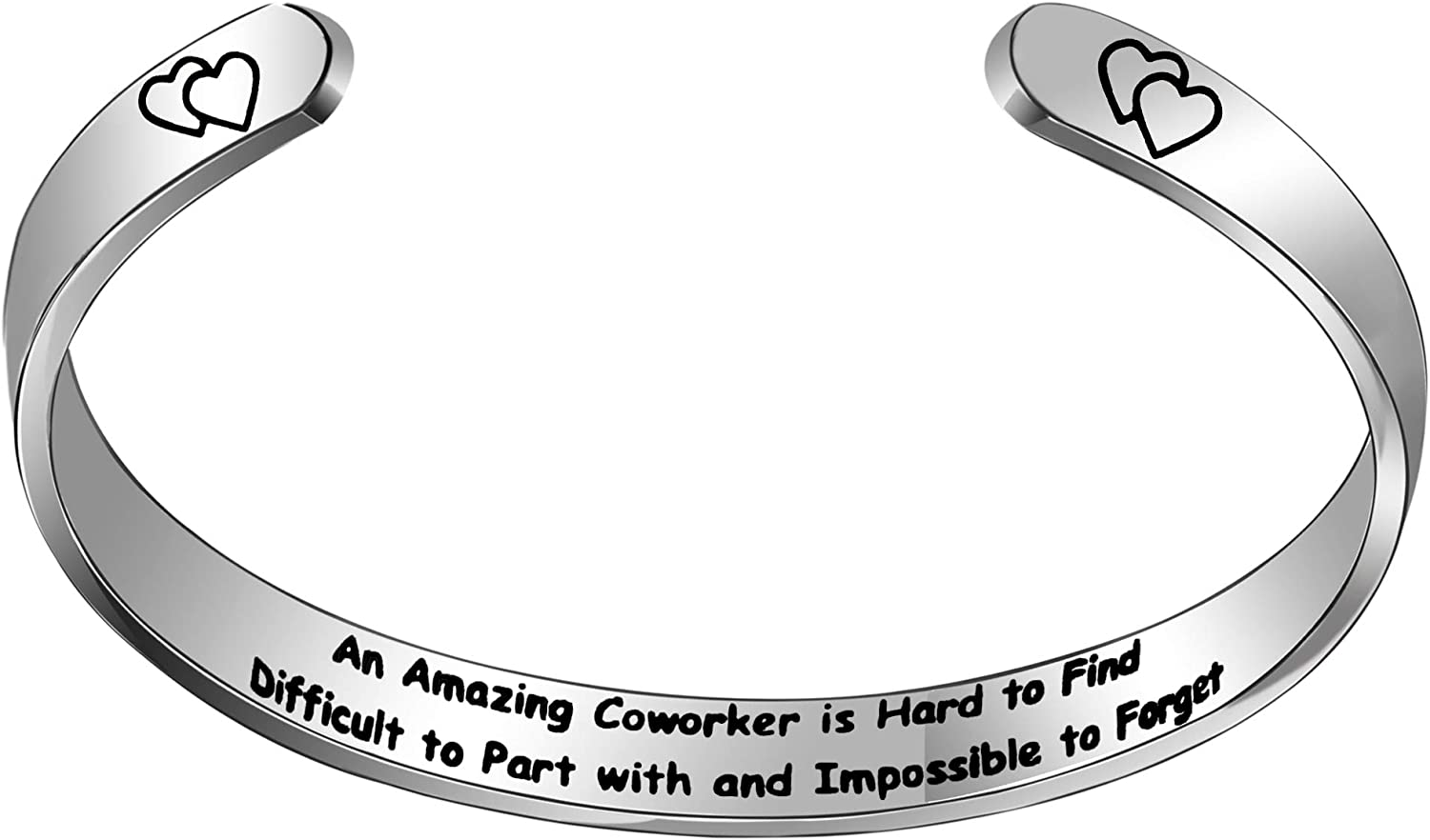 Sweettea Colleague Cuff Bracelet an Amazing Coworker is Hard to Find Difficult to Part with and Impossible to Forget Birthday Christmas Bangle