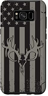 Galaxy S8+ American Flag Whitetail Deer Hunting Case Buck Skull Case