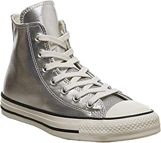 Converse Chuck Taylor All Star Shiny Metal Womens Silver Hi Trainers