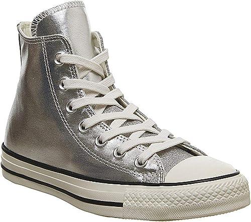 Converse All Star Hi mujer Hauszapatos plata