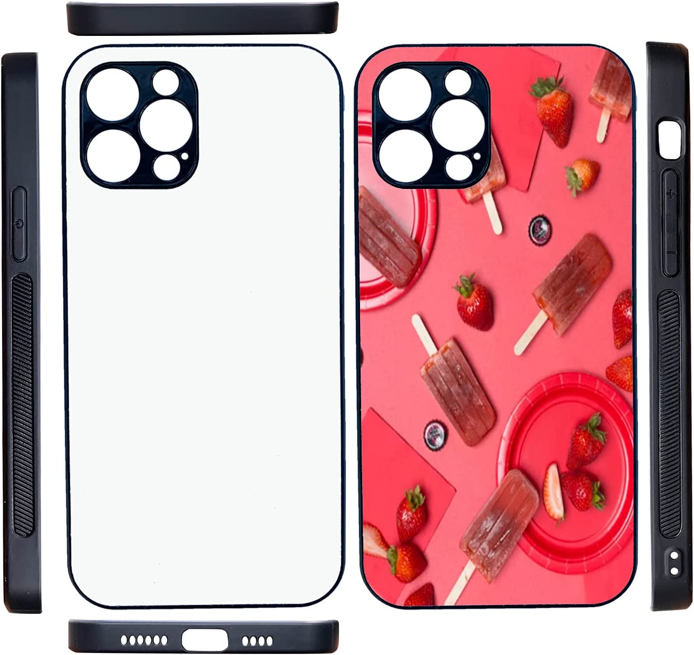 JUSTRY 5PCS Sublimation Blanks Phone 2021new shipping free shipping High material with Compatible Case Covers