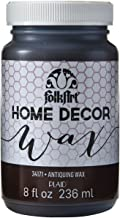 FolkArt 34171 Home Decor Chalk Furniture & Craft Paint in Assorted Colors, 8 ounce, Antique Wax