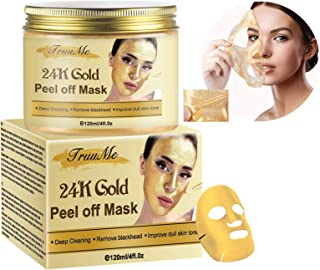 Blackhead Remover Mask, Blackhead Peel off Mask, Peel off Face Masks,24K Gold Facial Mask- Anti-Aging,Exfol...