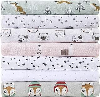 Intelligent Design Cozy 100% Cotton Flannel Novelty Print Animals Stars Cute Warm Ultra Soft Cold Weather Sheet Set Bedding, Full Size, Seafoam Foxes 4 Piece