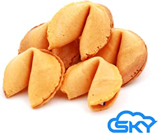 Sky Premium & Fresh Fortune Cookies Individually Wrapped, Bulk 350 Pcs, perfect for snacks, lunch, picnic, birthdays, graduation, parties | Product of USA