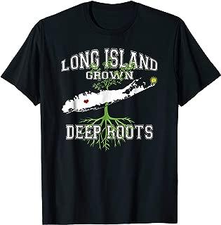 Long Island Grown Deep Roots Varsity Style T-Shirt