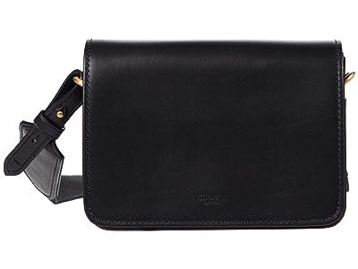 Shinola Detroit Sibley Mini Crossbody (Black) Handbags
