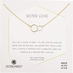Sister Love, Mixed Metal Linked Rings Necklace