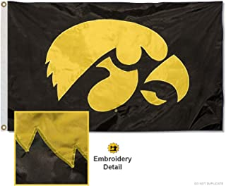 College Flags & Banners Co. University of Iowa Embroidered and Stitched Nylon Flag