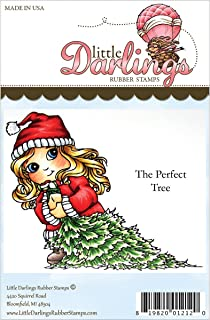 Little Darlings Cutie Pies Unmounted Rubber Stamp, 4.013 by 3.2-Inch, The Perfect Tree