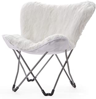 Fur Butterfly Chair - White