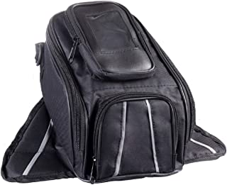 The Nekid Cow   Motorcycle Tank Bag, Water Resistant with Super Strong Magnetic Gas Oil Fuel Tank Bag Black